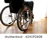 person with disability in the... | Shutterstock . vector #624192608