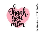 thank you mom vector... | Shutterstock .eps vector #624194486