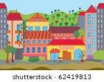 city cartoon seamless pattern... | Shutterstock .eps vector #62419813