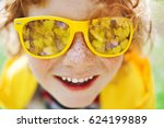 smiling caucasian boy with... | Shutterstock . vector #624199889