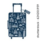 leather suitcase image with... | Shutterstock .eps vector #624201959