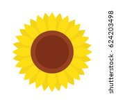 sunflower icon  isolated on... | Shutterstock .eps vector #624203498