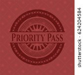 priority pass badge with red... | Shutterstock .eps vector #624204584