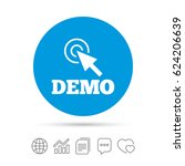 demo with cursor sign icon....   Shutterstock .eps vector #624206639