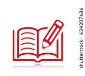book pen icon | Shutterstock .eps vector #624207686