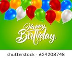 vector illustration of a happy... | Shutterstock .eps vector #624208748