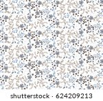 small flowers on white... | Shutterstock .eps vector #624209213