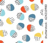 vector colorful seamless... | Shutterstock .eps vector #624210980