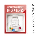 in case of emergency break... | Shutterstock .eps vector #624218630