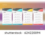 four banner for the tariffs and ... | Shutterstock .eps vector #624220094