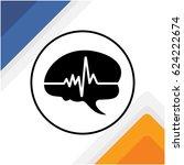 illustration icon of the brain... | Shutterstock .eps vector #624222674