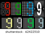 font set 4 digital display...