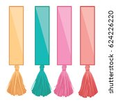 vector set of ribbons with... | Shutterstock .eps vector #624226220