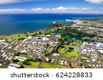 aerial view over hilo on big... | Shutterstock . vector #624228833