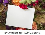 artistic workplace covered with ... | Shutterstock . vector #624231548