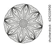adult coloring page. mandala... | Shutterstock .eps vector #624233900