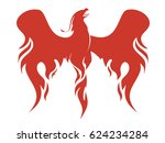 the mythical phoenix spreading... | Shutterstock .eps vector #624234284