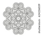 adult coloring page. mandala... | Shutterstock .eps vector #624236039