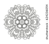adult coloring page. mandala... | Shutterstock .eps vector #624236054