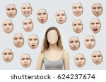 woman without a face. on the... | Shutterstock . vector #624237674
