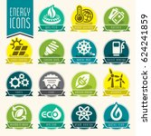 energy icon set. | Shutterstock .eps vector #624241859