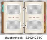illustration of a photo album... | Shutterstock .eps vector #624242960