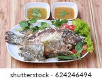 Grilled Tilapia Fish With Salt...