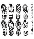 Footprint Sport Shoes Vector...