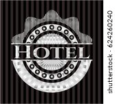 hotel silver shiny badge | Shutterstock .eps vector #624260240