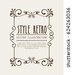 elegant frame style retro | Shutterstock .eps vector #624263036