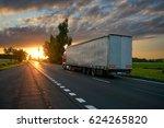 truck driving toward the... | Shutterstock . vector #624265820