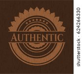 authentic badge with wooden... | Shutterstock .eps vector #624266330