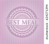 best meal badge with pink... | Shutterstock .eps vector #624271394