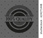 100  quality dark badge | Shutterstock .eps vector #624271448