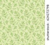 vector leaf. leaves seamless... | Shutterstock .eps vector #624272798