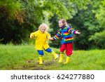little boy and girl play in... | Shutterstock . vector #624277880