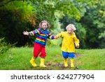 little boy and girl play in... | Shutterstock . vector #624277904