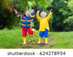little boy and girl play in... | Shutterstock . vector #624278954