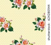 seamless floral pattern with... | Shutterstock .eps vector #624280544