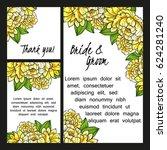vintage delicate invitation... | Shutterstock . vector #624281240