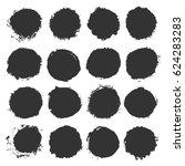 grunge circles. a set of... | Shutterstock .eps vector #624283283