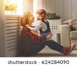 happy family mother and child... | Shutterstock . vector #624284090
