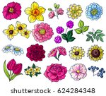 flower set | Shutterstock .eps vector #624284348