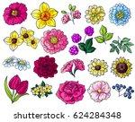 flower set | Shutterstock .eps vector #624284348