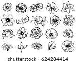flower set | Shutterstock .eps vector #624284414