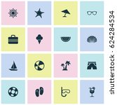 season icons set. collection of ... | Shutterstock .eps vector #624284534
