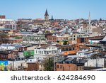 aerial of downtown baltimore ... | Shutterstock . vector #624284690