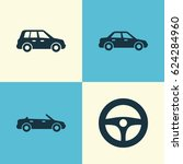 car icons set. collection of... | Shutterstock .eps vector #624284960