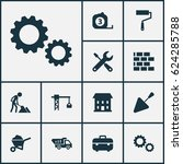 building icons set. collection... | Shutterstock .eps vector #624285788