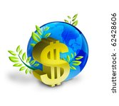 supremacy of the dollar in the world - stock photo